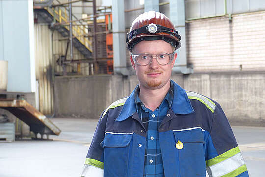 Thomas Urspruch - Best examination graduate in the state in the training occupation of industrial mechanic